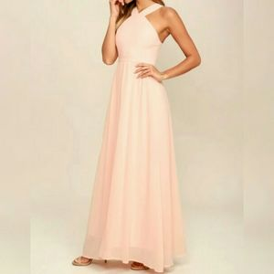 Lulu's Air of Romance maxi dress Peach XL